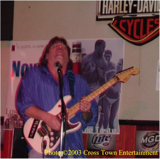 "David Van Kleeck at Steel Horse Saloon during rendition of Robin Trower's ""Bridge Of Sighs"""